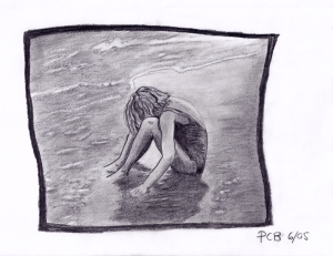 """Girl in shallows"" by Paula"