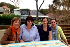 Mum, Anna, me & Bec, at home for lunch on Monday