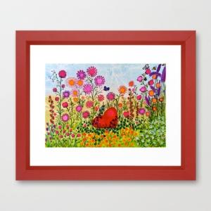 Hidden Heart framed prints from $US34