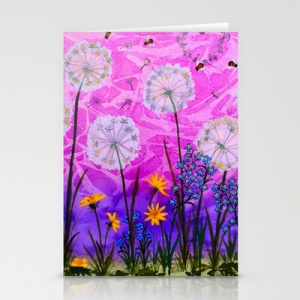 Spring Dandelions cards - set of 3 $US12