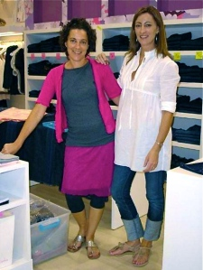 Martha and me in a pink zebra store, 2007